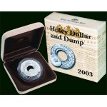 2003 Australian Silver Holey Dollar and Dump Coin