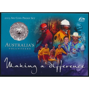 2003 AUSTRALIAN 6-COIN PROOF SET