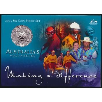2003 AUSTRALIAN 6-COIN PROOF SET