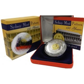 2003 Australian 150th Anniversary of the Sydney Mint Pattern