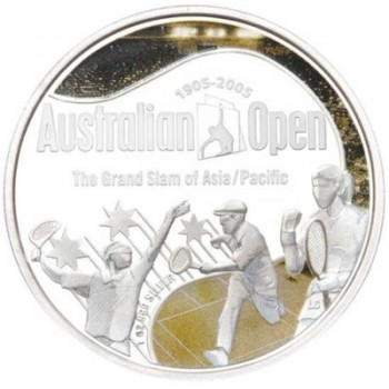 2005 Australian Open Centenary 1oz Silver Proof Coin