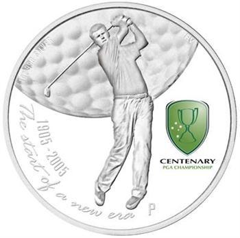 2005 Australian Centenary of PGA 1oz Silver Proof Coin