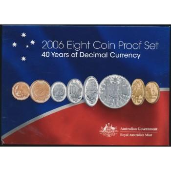 2006 AUSTRALIAN 8-COIN PROOF SET