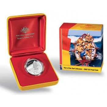 2007 Australian Year of the Surf Lifesaver Silver Proof Coin