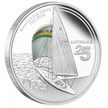 2008 AUSTRALIA II Americas Cup 1oz Silver Proof Coin