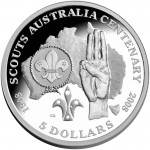 2008 Australia Centenary of Scouts 1oz Silver Proof Coin