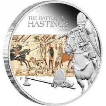 2009 Famous Battles in History 1oz Silver Proof Coin - Hastings