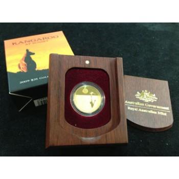2009 AUSTRALIAN KANGAROO AT SUNSET 1/5oz GOLD PROOF COIN