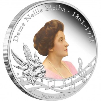2011 Dame Nellie Melba 1oz Silver Proof Coin