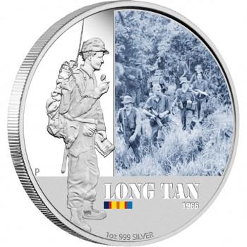 2012 Famous Battles in Australian History 1oz Silver Proof Coin  Long Tan