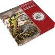 2013 Year of the Snake Kilo Silver Gemstone Coin