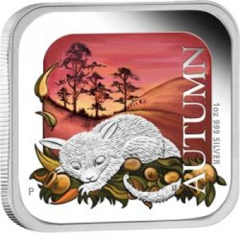 2013 Australian Seasons - Autumn 1oz Silver Proof Square Coin