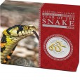 2013 Year of the Snake 1oz Gilded Silver Coin
