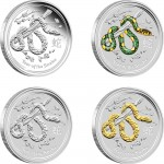 2013 Year of the Snake 4-Coin Silver Type Set