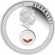 2013 Treasures of the World 1oz Silver Proof Locket Coin with Garnet - Europe