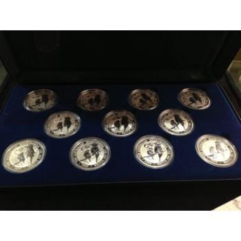 1999 AUSTRALIAN 11 - COIN SILVER SET - EUROPEAN CURRENCIES PRIVY MARK SERIES