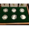 1989 - 1994 AUSTRALIAN BIRD SERIES PIEDFORT 6-COIN SILVER SET