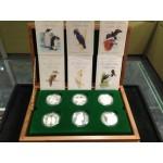 1989 - 1994 AUSTRALIAN BIRD SERIES PIEDFORT 6-COIN SILVER SET