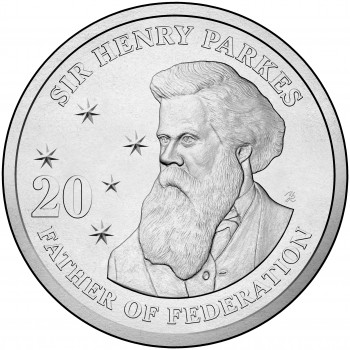 2015 20c Sir Henry Parkes Uncirculated Coin
