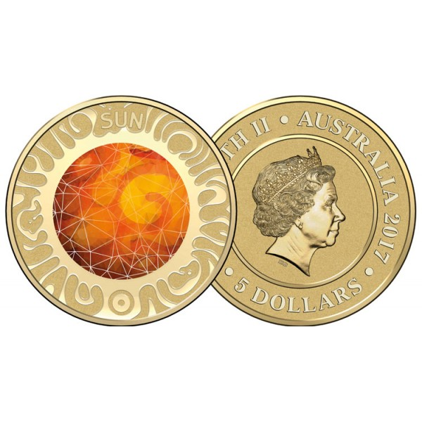 2017 Planetary 10 Coin Coloured Collection Sydney Coins