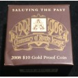 2008 Centenary of Rugby League 1/10oz Gold Proof Coin