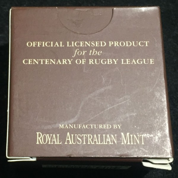 2008 Centenary Of Rugby League 1 10oz Gold Proof Coin