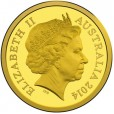 2014 Australian $10 Gold Proof - Voyage to Terra Australis