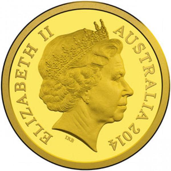 2014 Australian 2 Gold 0 5 Gram Coin Platypus Sydney