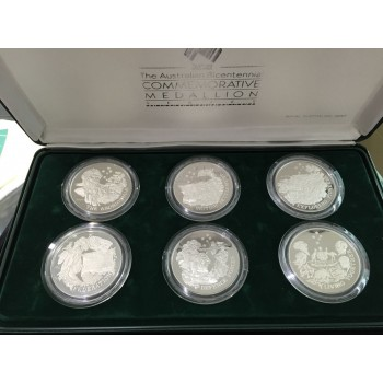1988 Australian Bicentennial Commemorative 6 - Medallion Set