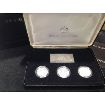 1990 Australian Masterpieces in Silver Set