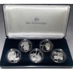 1995 Australian Masterpieces in Silver 5-Coin Set