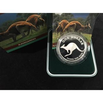 1998 Australian 1oz Silver Kangaroo Proof Coin