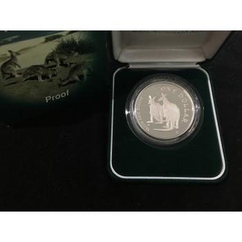 1999 AUSTRALIAN 1oz SILVER PROOF KANGAROO COIN