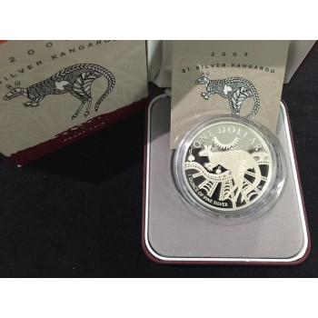 2003 Australian 1oz Silver Kangaroo Proof Coin