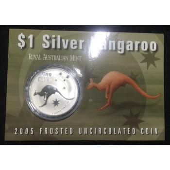 2005 Australian 1oz Silver Kangaroo Uncirculated Coin