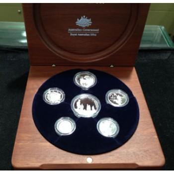 2005 AUSTRALIAN 6-COIN SILVER PROOF SET