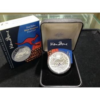 2009 Australian 1oz Silver Proof Kangaroo Coin