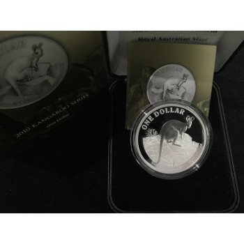 2010 Australian 1oz Silver Kangaroo Proof Coin
