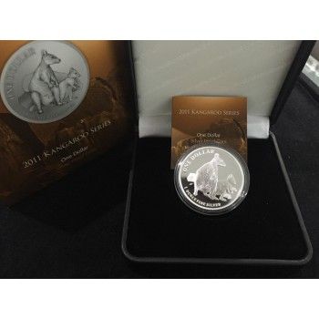 2011 Australian 1oz Silver Proof Kangaroo Coin
