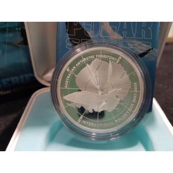 2008 International Polar Year 1oz Silver Proof Coin Skua