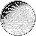 2017 $5 Queens Baton Relay Silver Proof Coin
