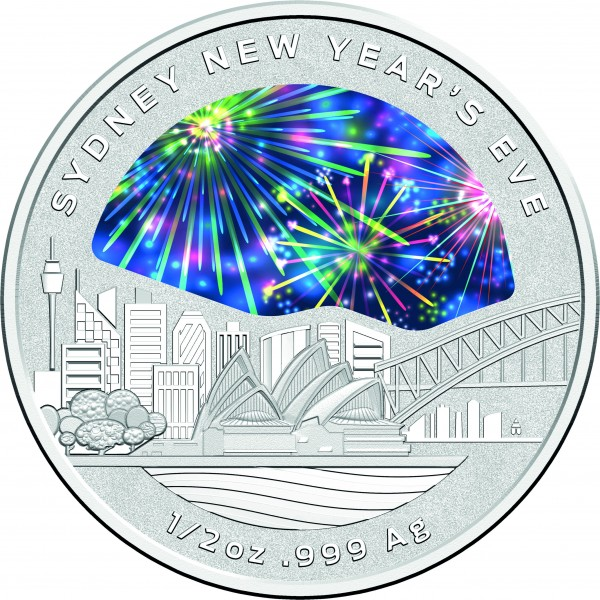 Denver Shooting New Year S Eve 2017: 2018 Sydney New Year's Eve 1/2oz Silver Coin
