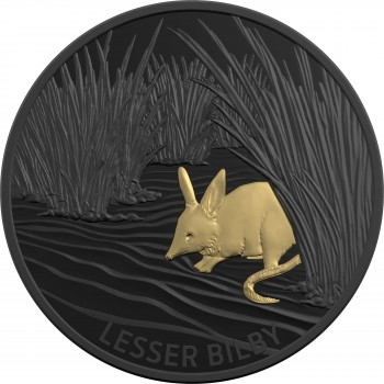 2019 $5 Echoes of Australian Fauna Coin Series - Lesser Bilby
