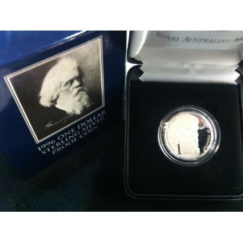 1996 Australian Silver $1 Proof Coin - Sir Henry Parkes