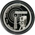 2006 Australian 50 Year of TV $1 Silver Proof Coin