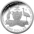 2008 Australian 100 Year of the Coat of Arms $1 Silver Proof Coin