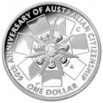 2009 Australian 60 Years of the Australian Citizenship $1 Silver Proof Coin