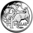 2014 Australian $1 Silver High Relief Mob of Roos Coin