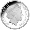 2014 Australian Kangaroo at Sunset Silver Coin