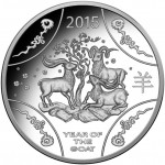 2015 Year of The Goat $1 Silver Proof Coin